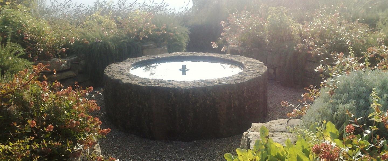 Gioco D'acqua In In Un Orto/giardino